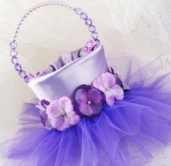 Lovely flower girl basket