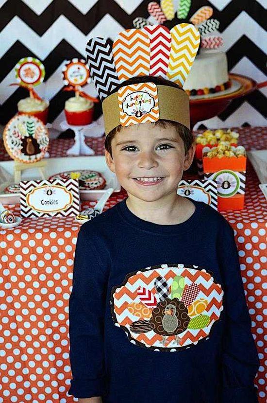 FREE thanksgiving party hat and printables! Via Kara's Party Ideas KarasPartyIdeas.com