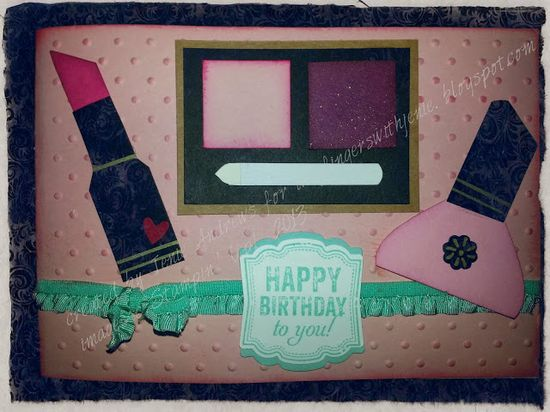 stampin up punch art make up card for pamper party birthday