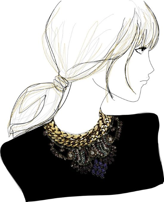 Fashion. #fashion #illustration #art #sketch #jewelry