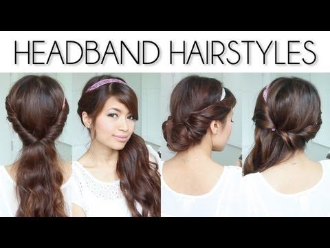 ? 3 Easy Everyday Headband Hairstyles ?   great how to video for all 3 styles