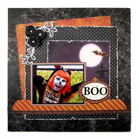 Boo featuring the Black Widow Collection from We R Memory Keepers - Scrapbook.com