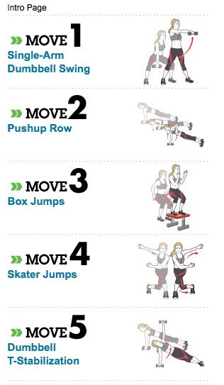 Total Body Circuit Toning    12-15 reps  3-4 Sets    1 minute rest between each set