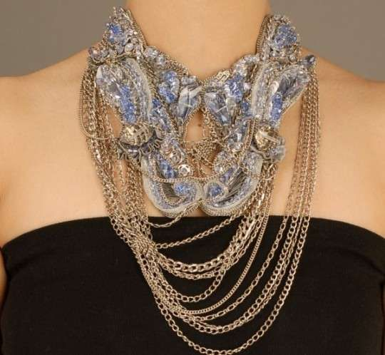 The Gaurav Gupta Jewlery Line is a Twisted Composition #necklace #jewelry trendhunter.com