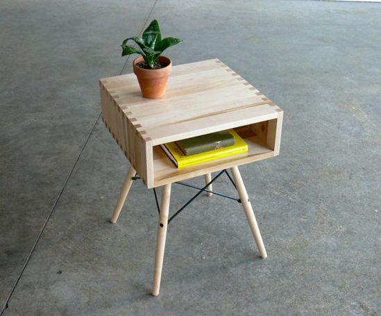 Mid Century Modern Inspired Side Table via Etsy