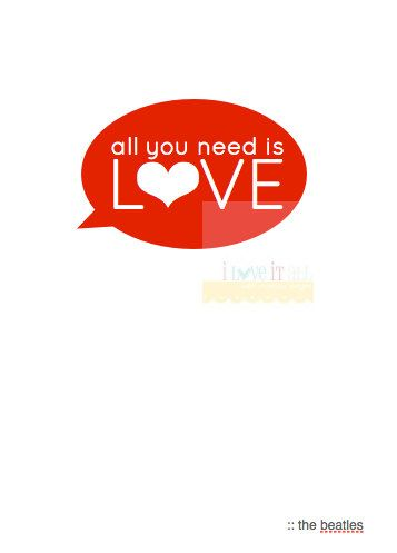 All You Need Is Love Romantic Valentine Wall Decor by iloveitall