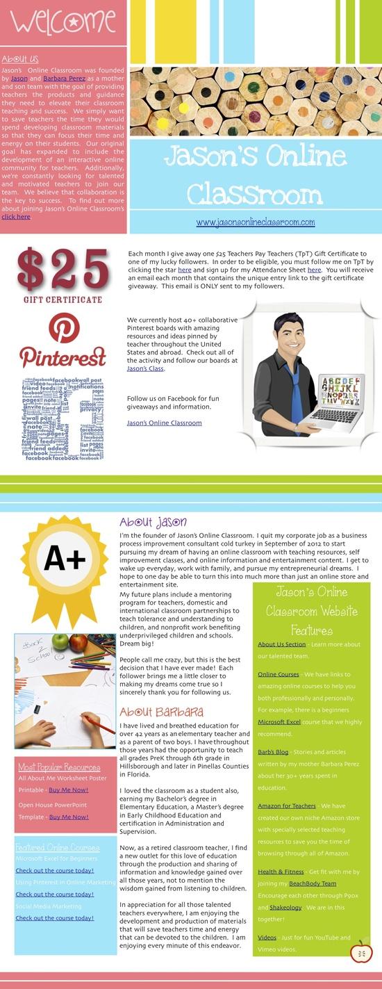 Learn all about Jason's Online Classroom! www.jasonsonlinec...