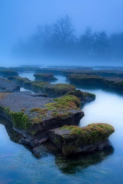 The Furrows - Foggy Sacramento River California by Stephen Oachs (ApertureAcademy.com)