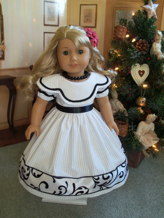 American Girl  Holiday Gown for Caroline, Marie Grace or Cecile/  Clothes for American Girl Dolls