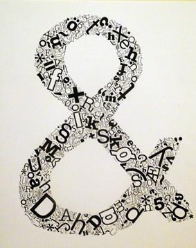 ampersands are my favorite.  via: ilovelifeiloveyou
