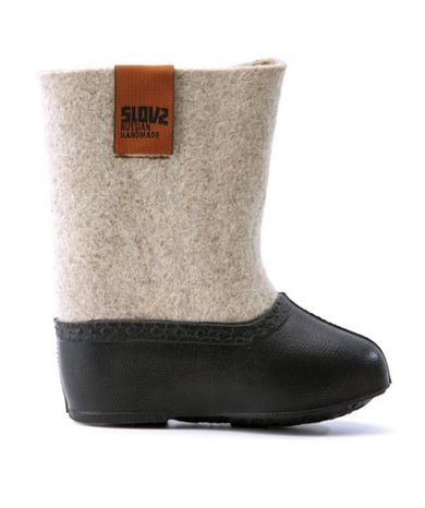 little wool and rubber boots
