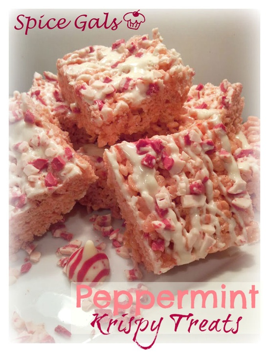 Spice Gals: Peppermint Krispy Treats