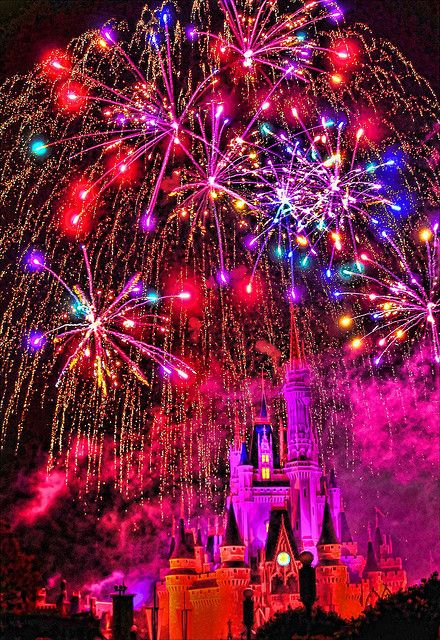 fireworks over Cinderella's Castle in the Magic Kingdom