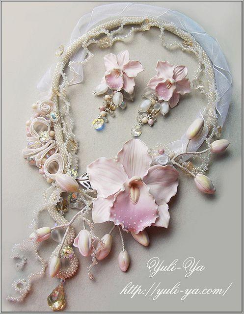 Every piece of her jewelry is a masterpiece...    www.yuli-ya.com
