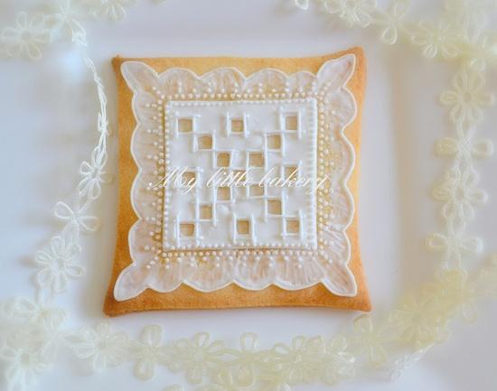 Square lace cookies.  So pretty!