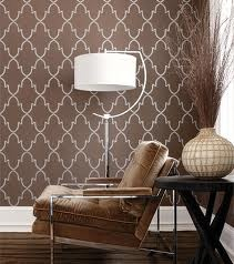 Cozy little corner. I like the wallpaper....great for a reading corner in the kids play room