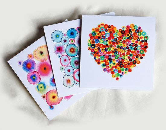 Greeting Cards Abstract Colorful