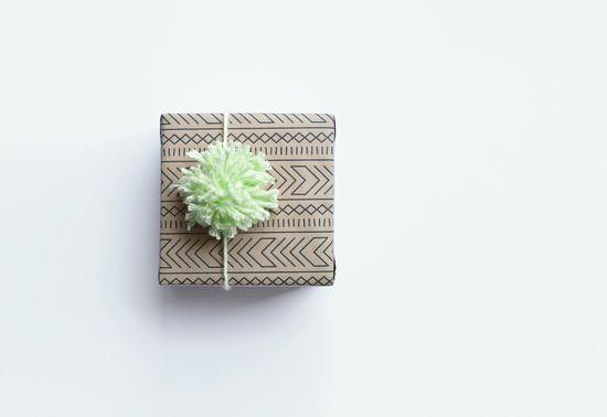 geometric gift wrap / frillspaper.com