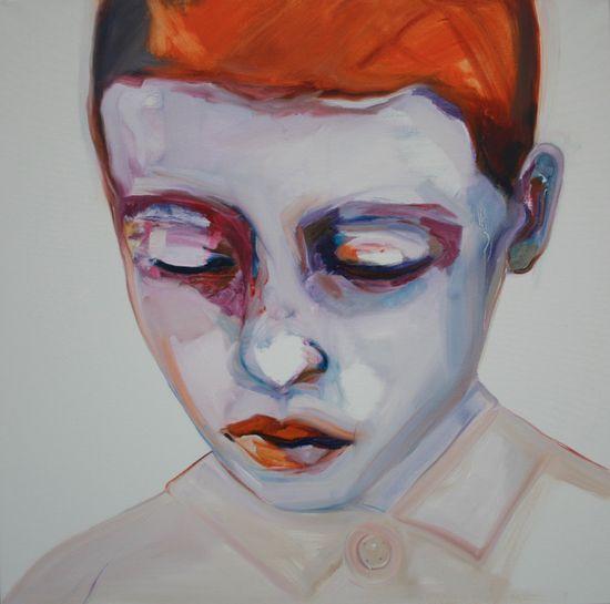 """Saatchi Online Artist: Patricia Derks; Oil, 2013, Painting """"Orange Boy"""""""