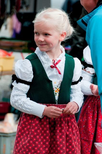 Viehschau Heiden    Girl in traditional dress Appenzell, Switzerland