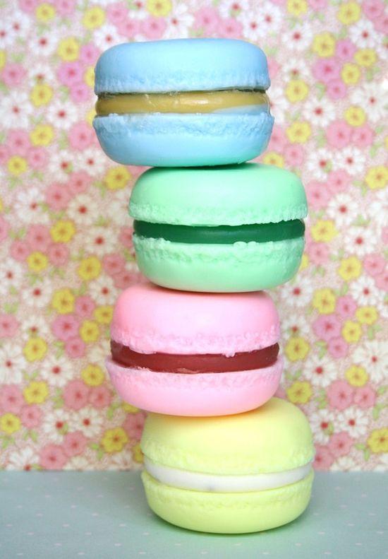 Macaron soaps by Naiad soap