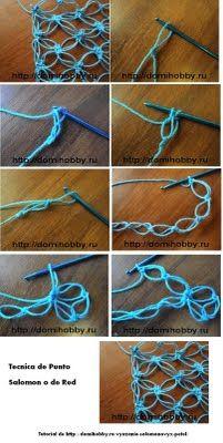 Many crochet stitches tutorials