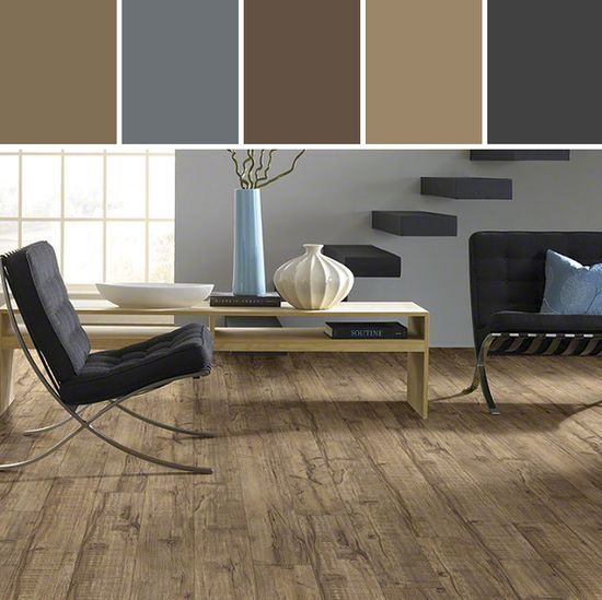 Resilient Northampton Flooring Living Room Designed By Shaw Floors via Stylyze