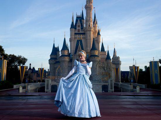 A princess and her (Cinderella) castle.