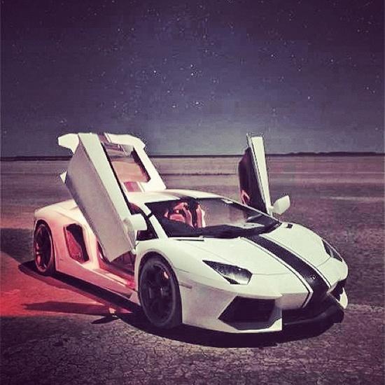 Lamborghini Aventador Chilling in the Desert gazing upon the Stars!