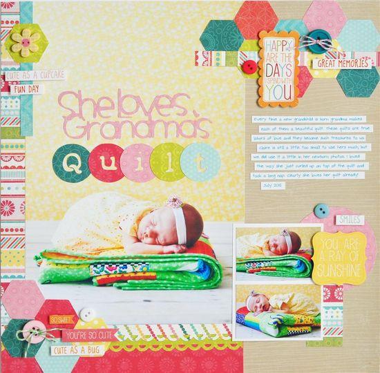 She Loves Grandma's Quilt - Scrapbook.com