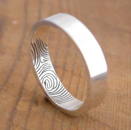 fingerprint wedding ring.