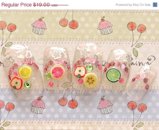 ON SALE Deco nails 3D nails summer nail art Miniature by Aya1gou, $17.10