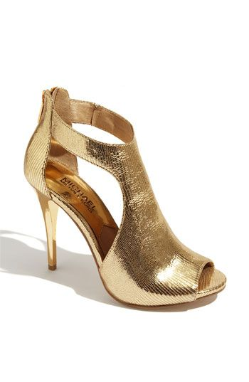 """$174.95 Michael Kors 'Josie' Back Zip Pump Back zip closure. Padded insole. Approx. heel height: 4 1/2"""" with 1/2"""" platform. Leather upper/synthetic and leather lining/rubber sole."""