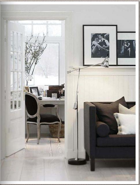 Gorgeous Norwegian-style monochromatic home; Slettvoll furniture, http://www.slettvoll.no
