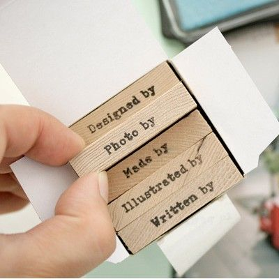 Copyright Wooden Rubber Stamp Set, cool!