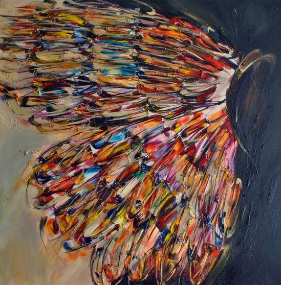"Saatchi Online Artist: Victoria Horkan; Oil, 2012, Painting ""Butterfly Enhancer"""