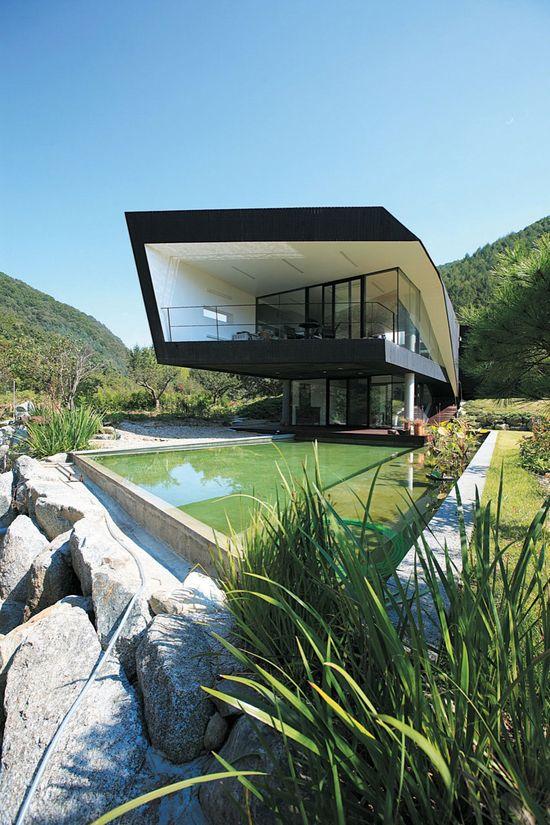 The 'Villa Topoject' located in Gyeonggido, Korea - Designed by Architecture of Novel Differentiation