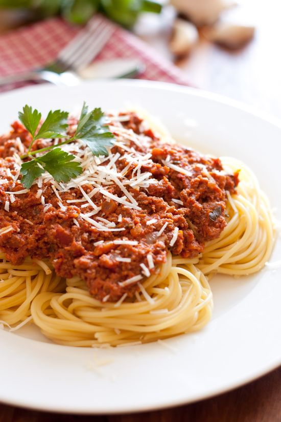 Spaghetti with Meat Sauce - Authentic Italian Style by cookingclasst #Pasta #Spaghetti #cookingclassy