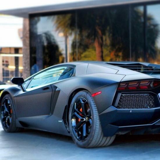 Matte Black Lamborghini Aventador