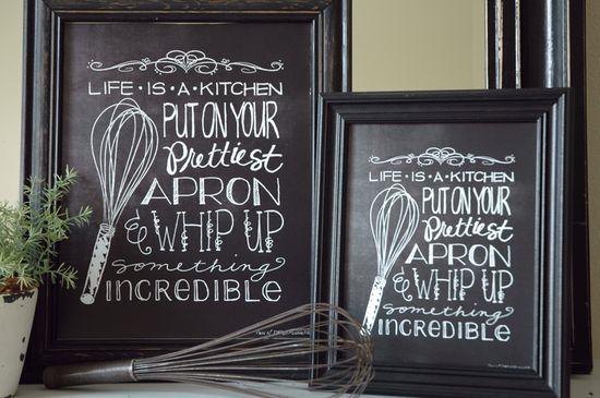Free Kitchen Art Printable