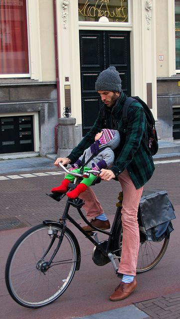 Dad with bike style