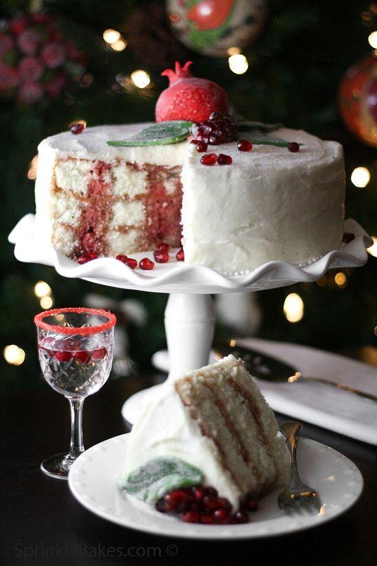 Pomegranate Christmas Cake (you had me at pomegranate).