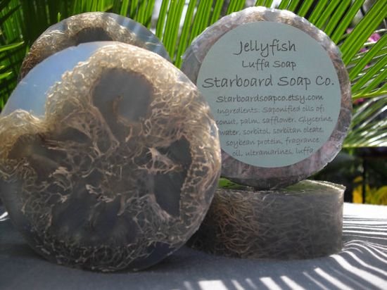 Jellyfish Luffa Soap by StarboardSoapCo on Etsy, $6.00