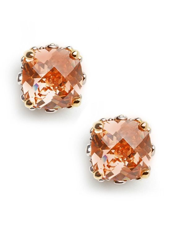 cushion cut studs. need these in every color!