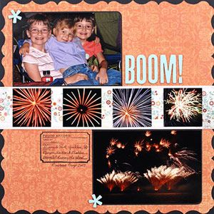 SCRAPBOOK PHOTOS OF 4TH OF JULY FIREWORKS