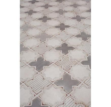 Beautiful spanish inspired mosaic tiles in neutral grey shades.
