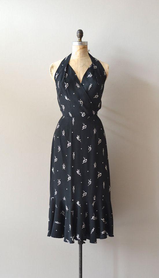 vintage 40s dress / rayon 1940s dress / Balletomane by DearGolden, $240.00