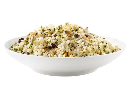 Quinoa With Garlic, Pine Nuts and Raisins #FNMag #myplate #grains