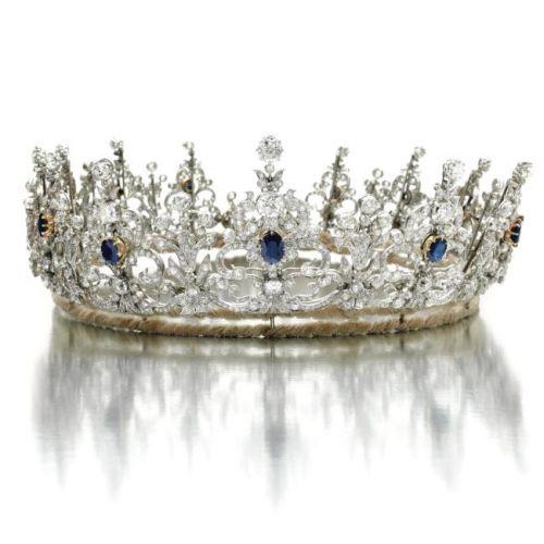 a 1900's sapphire tiara..
