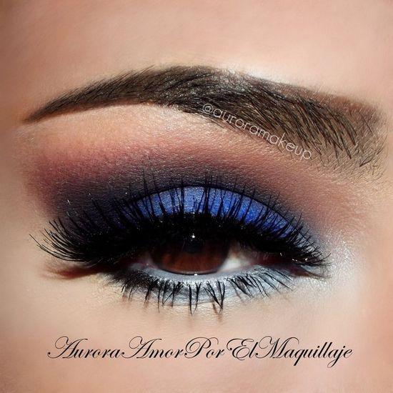 Navy blue and bronze eye makeup #vibrant #smokey #bold #eye #makeup #eyes